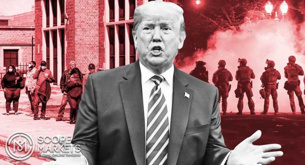 Trump đánh lừa về virus và phủ bóng đen trong đêm bầu cử